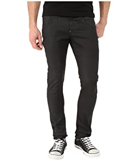 Revend Super Slim in Black Pintt Stretch Denim 3D Dark Aged