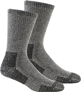 Mens 2 Pack Cushioned Wool Blend Walking Socks