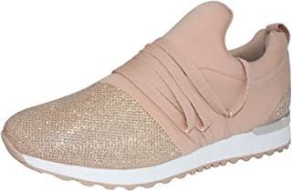 ROXY ROSE Slip on Women Sneaker Breathable Cosy Sports Shoes with Shoelaces