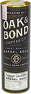 Cabernet Sauvignon Wine Barrel Aged Coffee - Whole Bean Coffee, Guatemala Huehuetenango Whole Bean Coffee Aged in Cabernet Sauvignon Wine Barrels by Oak & Bond Coffee Co. - 10 oz