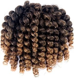 3 Packs 2X Ringlet Wand Curl Jamaican Bounce 8 inch Synthetic Crochet Hair Extensions Havana Mambo Twist Braiding Hair 20 Roots (#T1B/27)