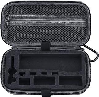For OSMO POCKET 2用キャリングケース、ポータブル収納バッグ耐衝撃落下防止ケースハンドヘルドスーツケースプロテクターポーチバッグカラビナ付きトラベルケースケース 充電ボックス フィルター コントローラーホイールなどのアクセサリー収...