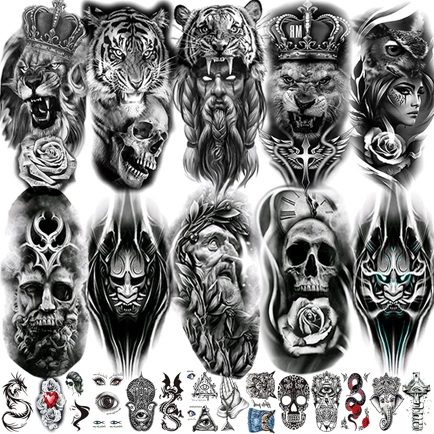24 Sheets Fake Limited Special Price Tattoos Temporary Men for Max 40% OFF Adults Women Ta