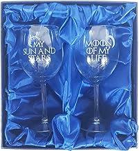 Derwent Laser Craft Juego de Tronos Inspirado en My Sun and Stars, Moon of My Life par de Copas de Vino