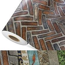 CV vloerbedekking Caracterra - extra slijtvaste PVC vloerbedekking (geschuimd) - Foto Print baksteen - Oppervlak gestructu...