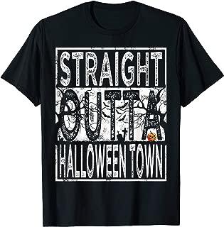 Straight Outta Halloween Town Pumpkin Costume Men Women Top T-Shirt