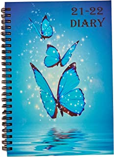 Academic Diary 2021-2022 Week To View A5 Mid Year Diary Weekly Planner Address Book Appointments by EJRange Spiral Bound f...