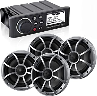 """$679 » Sponsored Ad - Fusion MS-RA70NSX Marine AM/FM/BT/NEMA2000 Stereo with 2 Pair Wet Sounds RECON6-S High Output 6.5"""" Marine C..."""