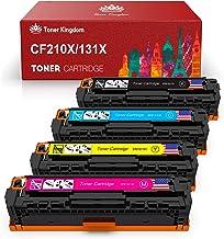 Tóner Kingdom - Cartucho de tóner Compatible con HP 131X CF210X CF210A 131A para HP Laserjet Pro 200 Color M251n M251nw M276nw, 128A CF320A CM1415FNW CP1525N, 125A CB540A CP151515n CP1215