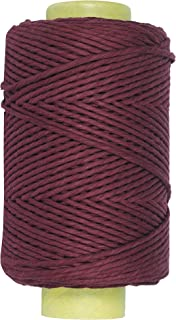 Crafteza Macrame Cord Wine Red 4mm X 210 mt (About 689 ft) Single Strand Bulk Knotting Rope - Natural Virgin Cotton H Hand...