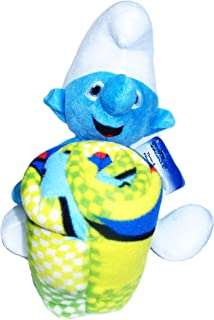 Smurfs Plush Doll and Fleece Blanket Set for Children and Smurf Fans