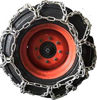 TireChain.com 10-16.5, 10 16.5 Duo Grip Tractor Tire Chains Set of 2