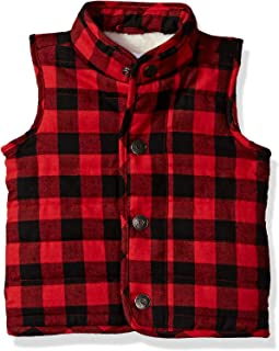 Mud Pie Baby Boys' Toddler Sherpa Lined Quilted Vest