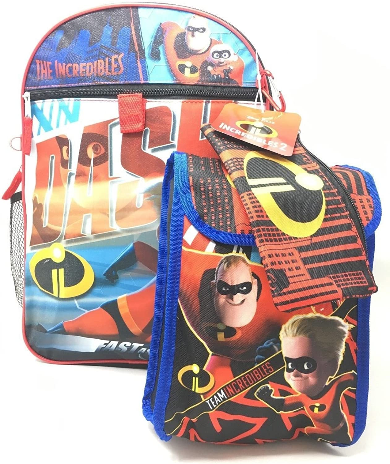 Character Super 5Piece Backpack Set (Incredibles)