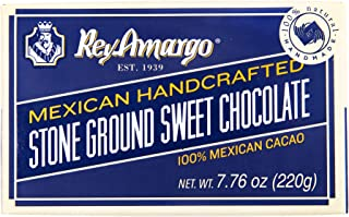 Rey Amargo Mexican Traditional Chocolate - 2 bars (7.76 oz total package weight) - 100% natural - Handmade - Vegan - Kosher