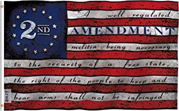 Anley Fly Breeze 3x5 Foot 2nd Second Amendment Flag - Vivid Color and Fade Proof - 2nd Amendment 1791 Vintage American Flags Polyester with Brass Grommets 3 X 5 Ft