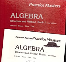Algebra: Structure and Method, Book 1, Practice Masters Duplication Looseleaf Set & Answer KEY Book