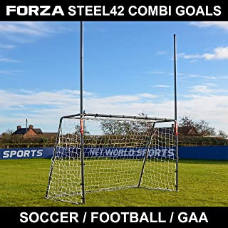 Net World Sports Forza 8 x 5 ft Steel42 Rugby/Soccer/Gaelic Football Goal - Great for Training Your Sports Stars of The Fu...