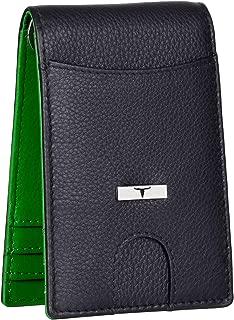 Urban Forest Eddy RFID Blocking Black/Green Money Clip Leather Wallet for Men