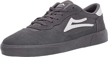 Lakai Footwear Cambridge Grey Suedesize Tennis Shoe, Grey Suede