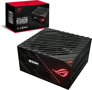ASUS ROG Thor 850P Certified 850W Fully-Modular RGB Gaming Power Supply with LiveDash OLED Panel