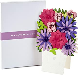 Hallmark Signature Paper Craft Flowers Displayable Bouquet Valentine's Day Card (Heart)