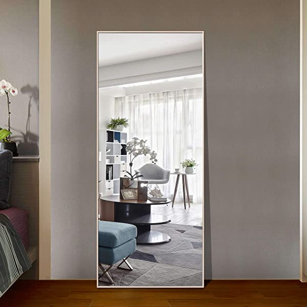 Hans Alice 65 X24 Full Length Mirror Bedroom Floor Mirror Standing Or Hanging Natural Wood