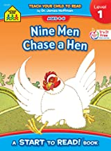 School Zone - Nine Men Chase a Hen, Start to Read!® Book Level 1 - Ages 4 to 6, Rhyming, Early Reading, Vocabulary, Simple...