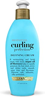 OGX Moroccan Curling Perfection Defining Cream, 6 Ounce, Blue (91617)