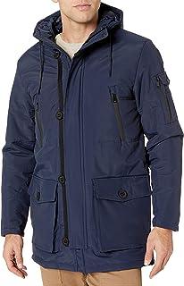 معطف رجالي من Cole Haan مصنوع من جلد أكسفورد الصناعي منتفخ