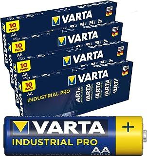 Varta Industrial 4006 Batterien Mignon AA LR6 MN1500 40 Stück (4 Kartons a 10 Stück) geeignet für energieintensive Geräte