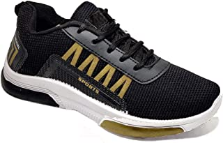 Camfoot Men's (9329) Black Casual Sports Running Shoes