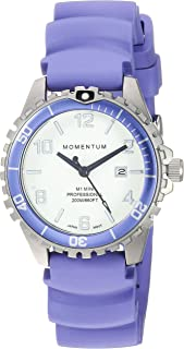 Momentum Women's 'Mini' Quartz Stainless Steel and Rubber Casual Watch, Color:Purple (Model: 1M-DV07WP1L)