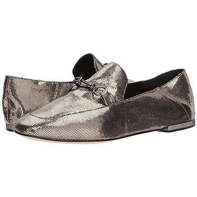 Donna Karan Debz Loafer (Light Pewter Antique Metallic Leather) Women