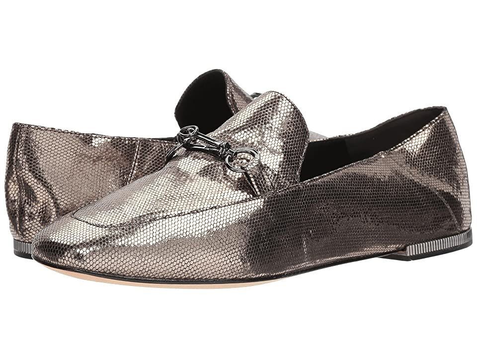 Donna Karan Debz Loafer (Light Pewter Antique Metallic Leather) Women