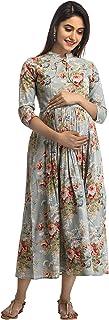 ANAYNA Women's Cotton Maternity Dress