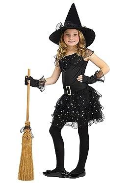 Girls Glitter Witch Costume Small (4-6)