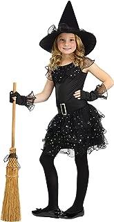 Fun World Glitter Witch Costume, Small 4 - 6, Black