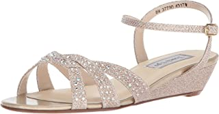 Touch Ups Women's Lena Wedge Sandal, Champagne, 11 W US