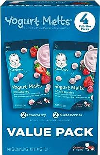 Gerber Yogurt Melts Variety Pack, 4 Oz, 4 Ct