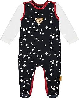 Steiff Baby-Mädchen Mit Süßer teddybärapplikation Set Strampler  T-Shirt Langarm