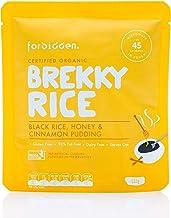 Forbidden Foods, Black Rice, Honey & Cinnamon Breakfast Pudding Ready to Eat, 1.25kg