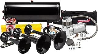 Kleinn Air Horns HK7 Complete Triple Train Horn System - Black