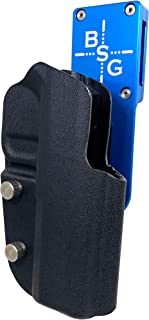 Professional Heavy Duty Competition Holster OWB Kydex fits CZ AccuShadow 2, Shadow II IPSC, USPSA, 3-Gun Approved, Adjustable in All Angles and Retention (Blue/Black)