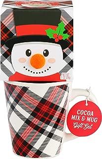 Thoughtfully Gifts, Snowman Holiday Mug Gift Set, Includes Holiday Mug with Hot Chocolate Mix