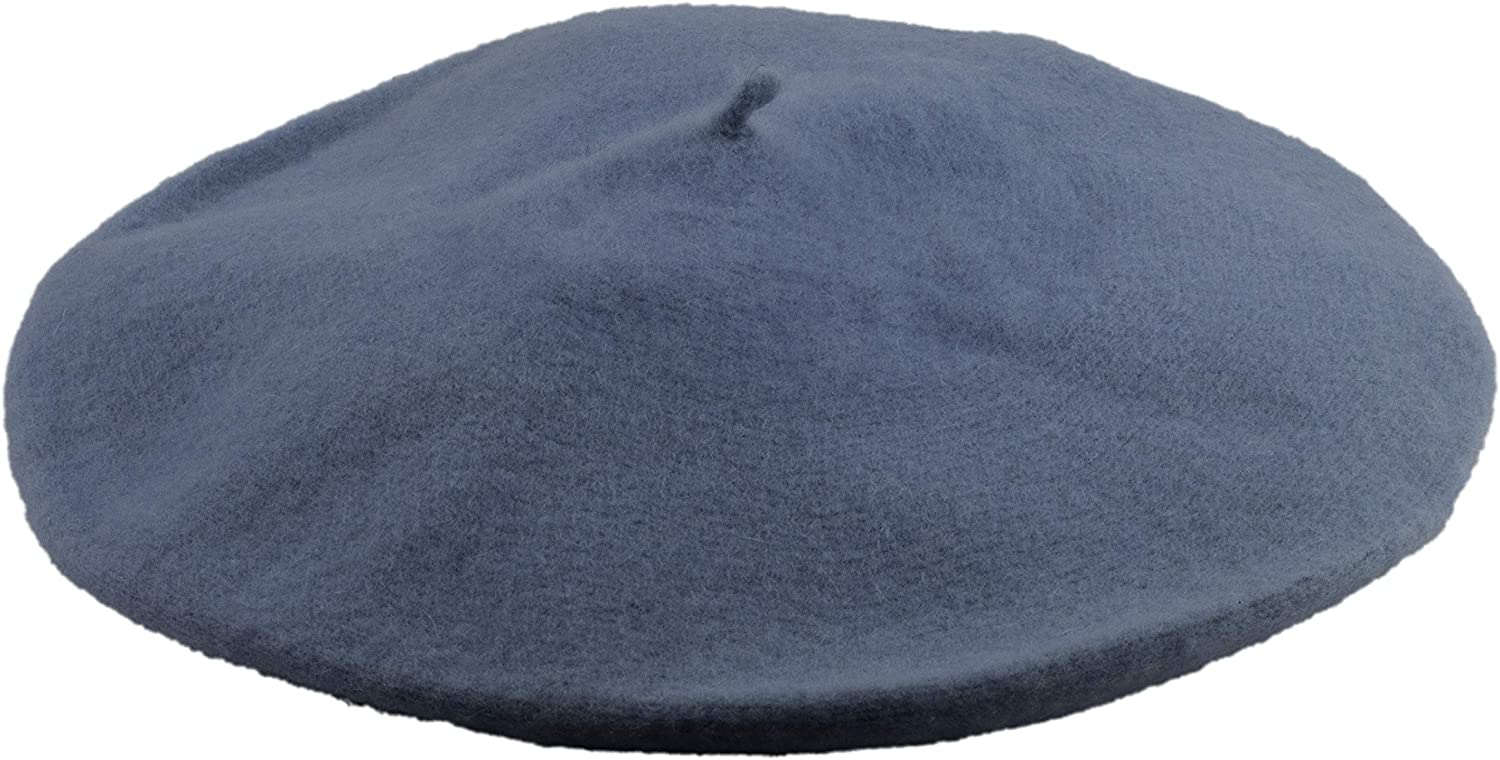 Captain Classic French 100% Wool Beret Solid color  Casual Lightweight Parisian Womens Style Berets Hats for Girls and Women