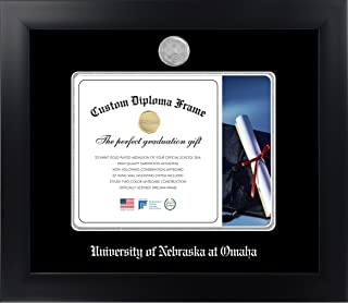 Celebration Frames University of Nebraska at Omaha 8½ x 11 Matte Black Finish Infinity Diploma Frame