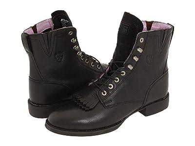Ariat Heritage Lacer II (Black Deertan) Cowboy Boots
