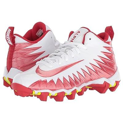 Nike Kids Alpha Menace Shark Football (Toddler/Little Kid/Big Kid) (White/University Red/University Red) Kids Shoes
