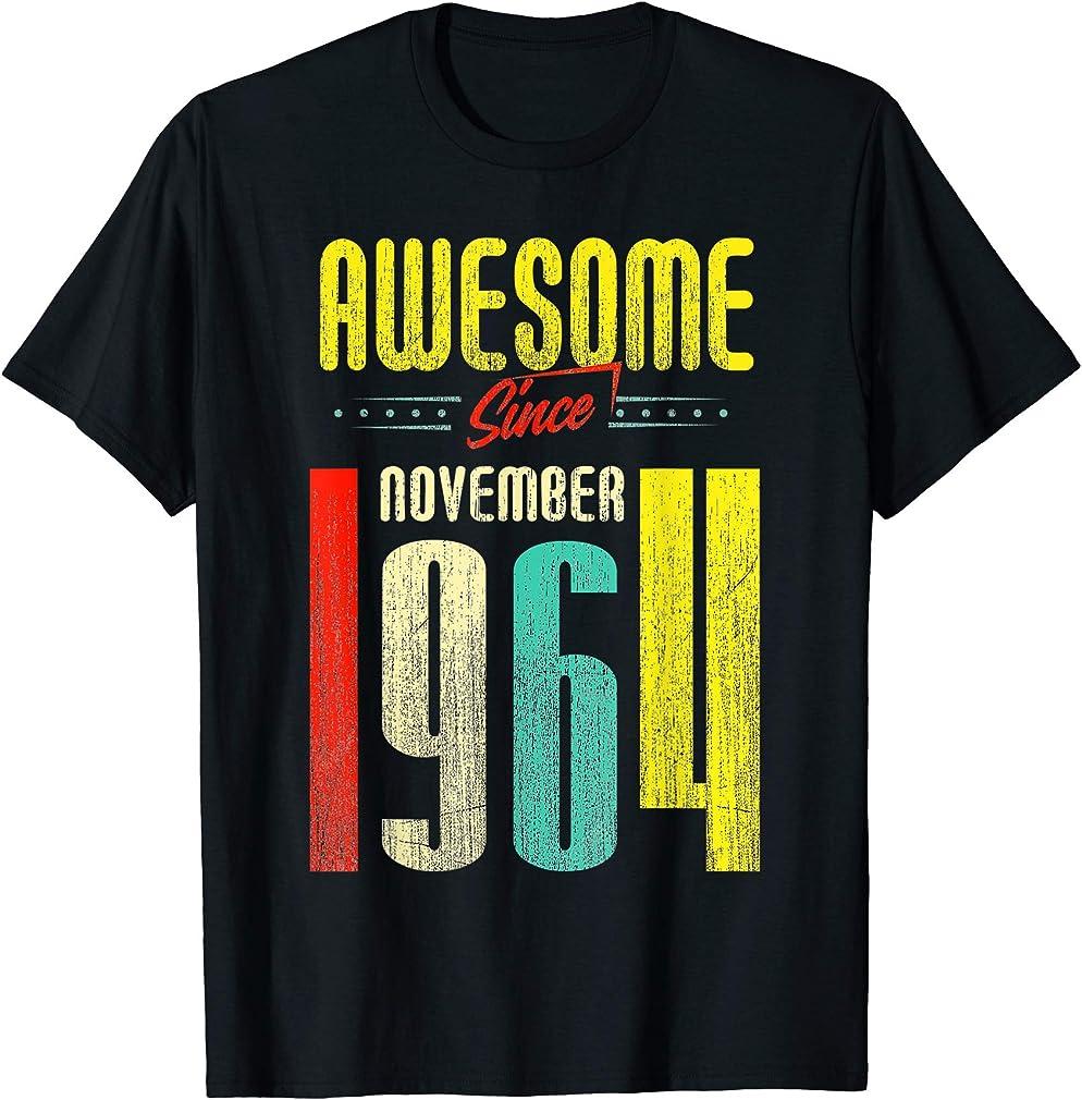 Born November 1964 55th Birthday Awesome Since November 1964 T-shirt